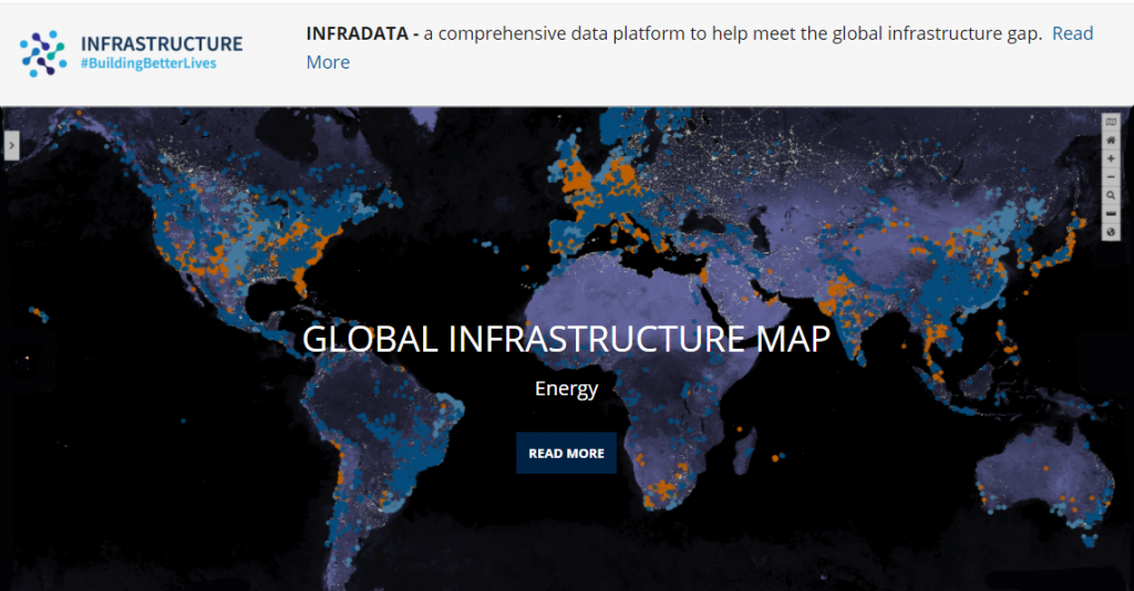 Global Infrastructure Map website screenshot