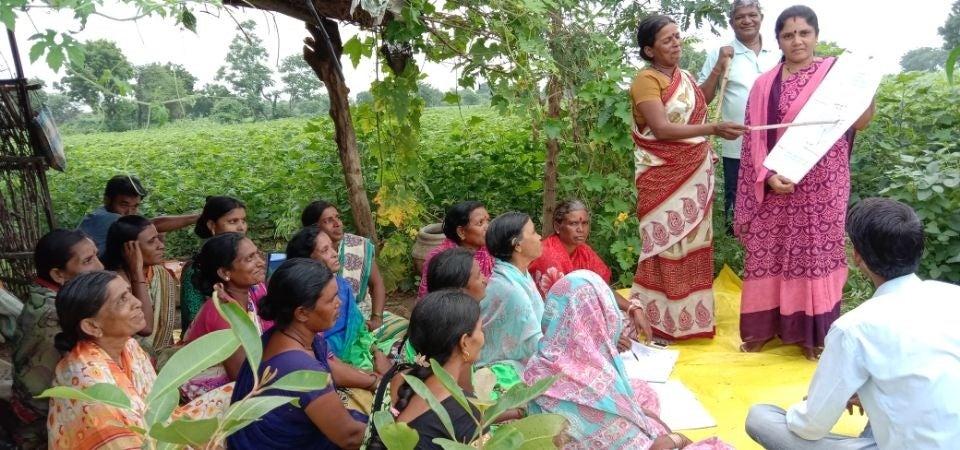 A class in progress in village Bhuising in district Buldhana