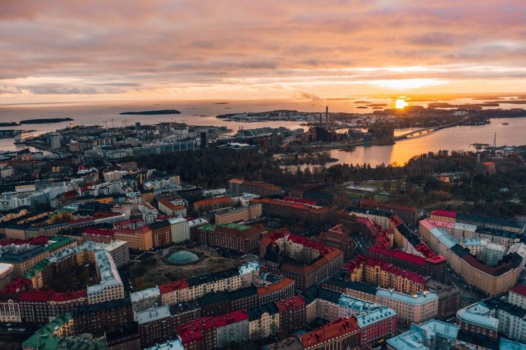 Töölö district and the Temppeliaukio