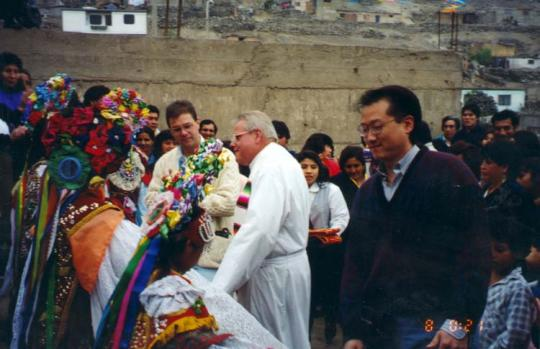 Jim Yong Kim with Father Jack in Peru