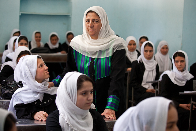 Basira Basiratkha, principal of the Female Experimental High School in Herat, Afghanistan. Her school benefited from an IDA-supported program. © Graham Crouch/World Bank