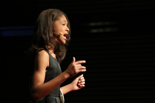 Picture of Christin Clyburn twelve-year-old poet