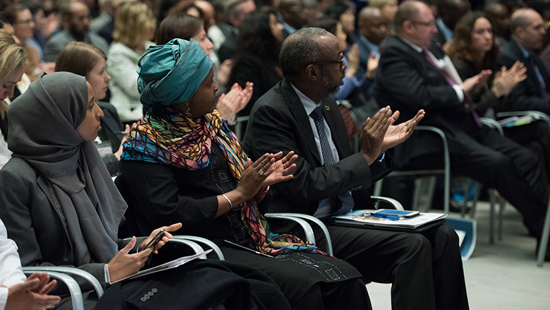 Participants from 90 countries and 400 organizations joined the 2018 Fragility Forum to explore development, humanitarian and security approaches to fostering global peace and stability. © World Bank