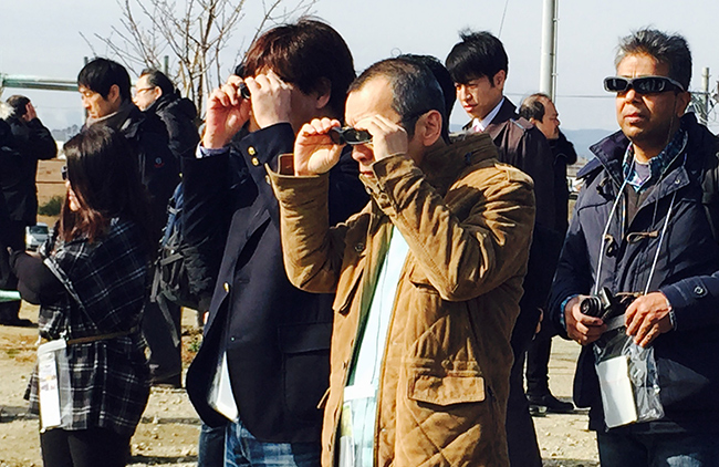 Viewing Yuriage before the tsunami using augmented reality glasses. Code for Resilience