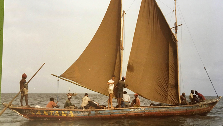 Solomon's children were proud of his work and the positive changes in Sierra Leone's artisanal fisheries. © Solomon Kamara's family archive.