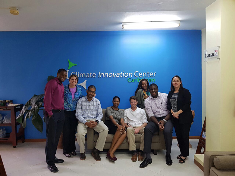 The Caribbean CIC Team after the Workshop kick-off. © Elaine Tinsley