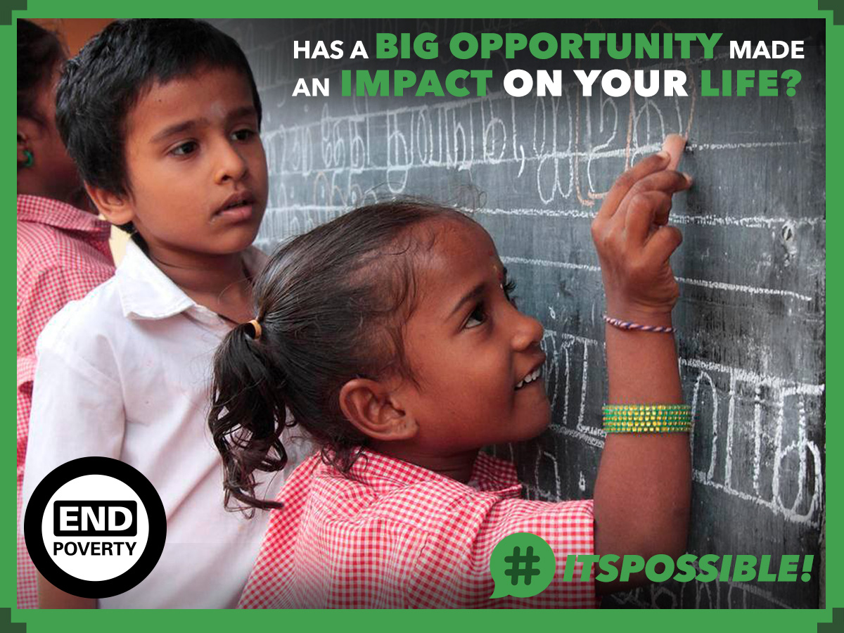 Has a big opportunity made an impact on your life? Share with #ItsPossible.