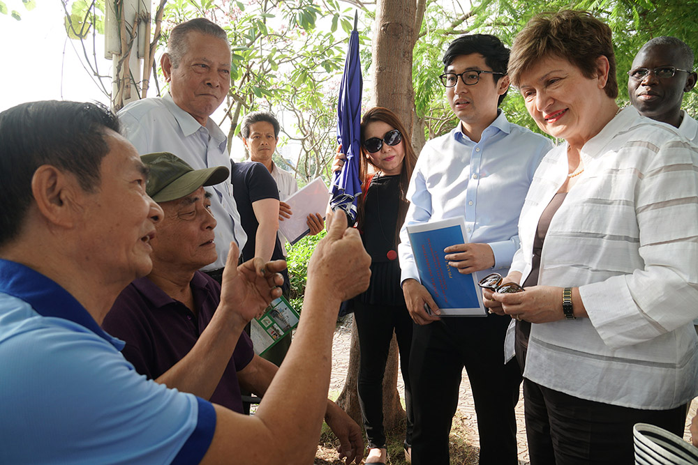 Speaking with residents of Ho Chi Minh City around the Nhieu Loc-Thi Nghe canal last month.