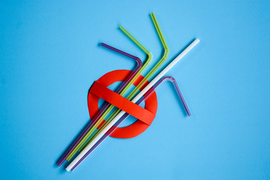 Plastic straws are among the top items of marine plastics found around the world, and they're generally not recyclable. © Kanittha Boon/Shutterstock