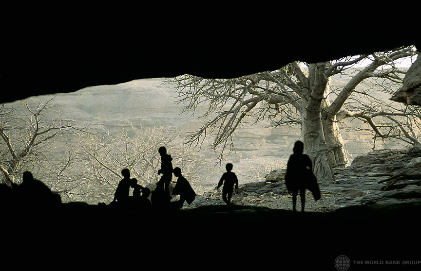 View from cave, Mali. © Curt Carnemark/World Bank