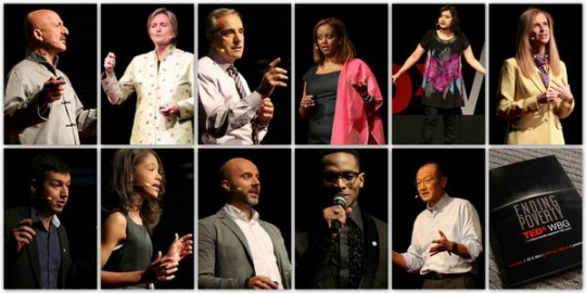 Collage picture of all our presenters and everyone involved in TEDxWB