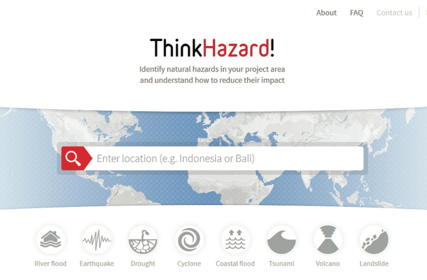 ThinkHazard! platform