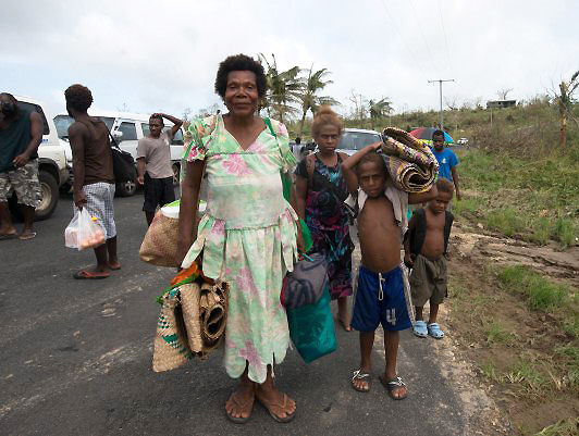 Tropical Cyclone Pam, a Category 5 storm, ripped through the island nation of Vanuatu on March 13 and 14. © UNICEF