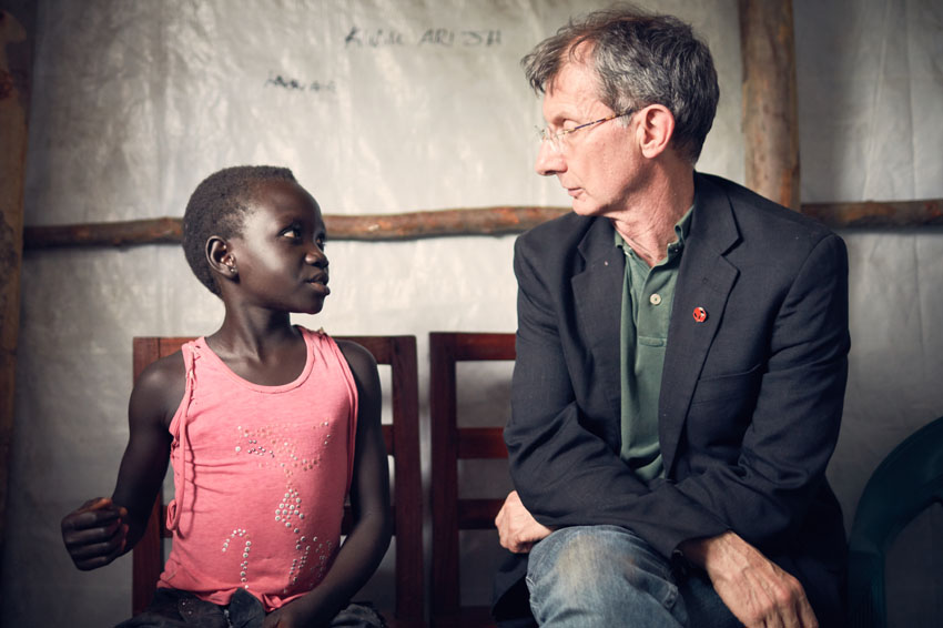 Talking to Venetia*, 9, a child refugee from South Sudan, about what she wants to be when she grows up.