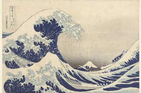 The Great Wave off Kanagawa, by Hokusai